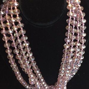 "Jewelry - 80"" crystal necklace"